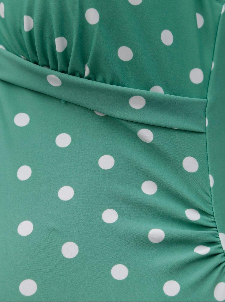 Zelené těhotenské puntíkované plavky Mama.licious Nancy