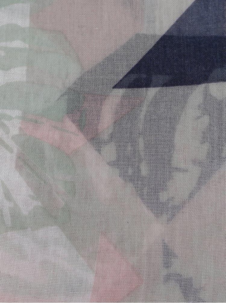 Esarfa roz deschis cu model - Pieces Dawn