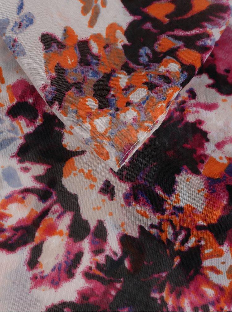 Bílý květovaný dutý šátek Pieces Dolores