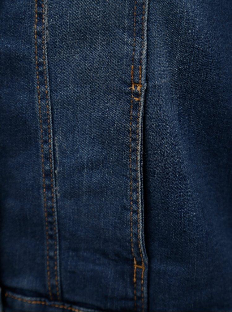 Modrá dámská džínová bunda Zizzi