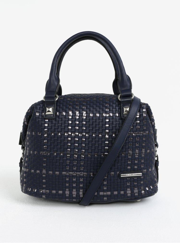 Tmavě modrá kabelka s koženými detaily Liberty by Gionni Patricie