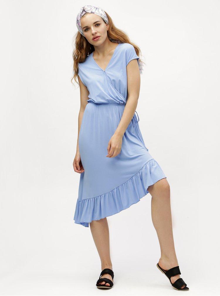 Světle modré asymetrické šaty VERO MODA Gloria