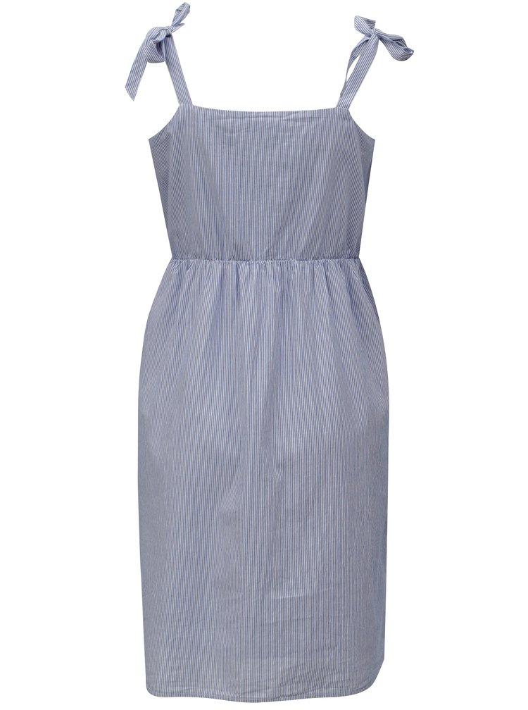 Modré pruhované šaty VILA Vipole