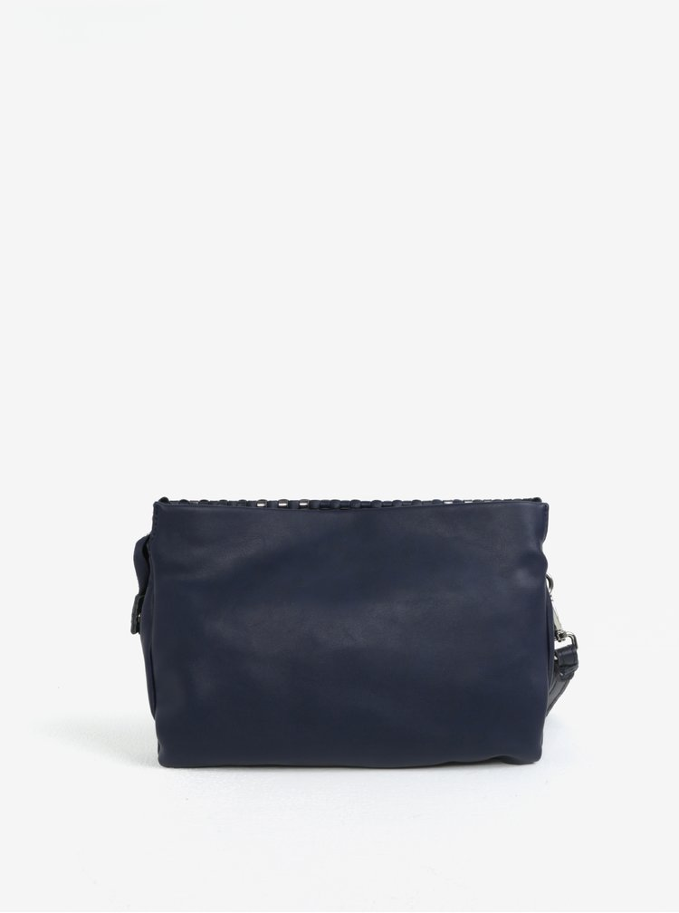 Tmavě modrá crossbody kabelka s koženými detaily Liberty by Gionni Patrice