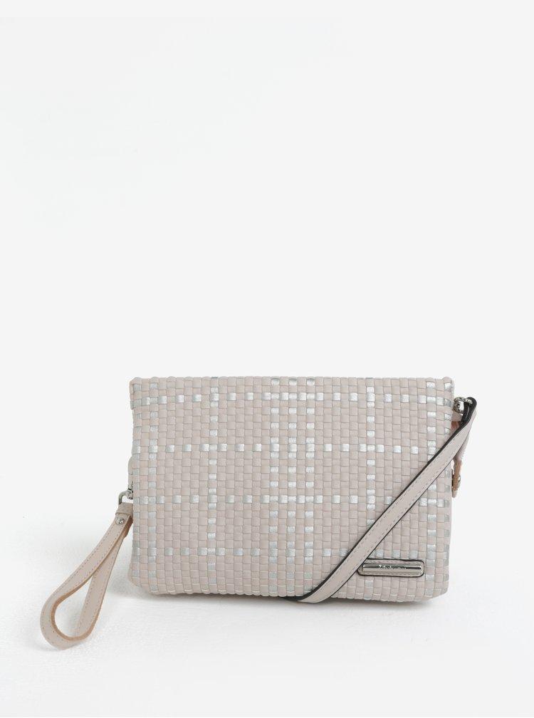 Béžová crossbody kabelka s metalickými detaily Liberty by Gionni Patrice