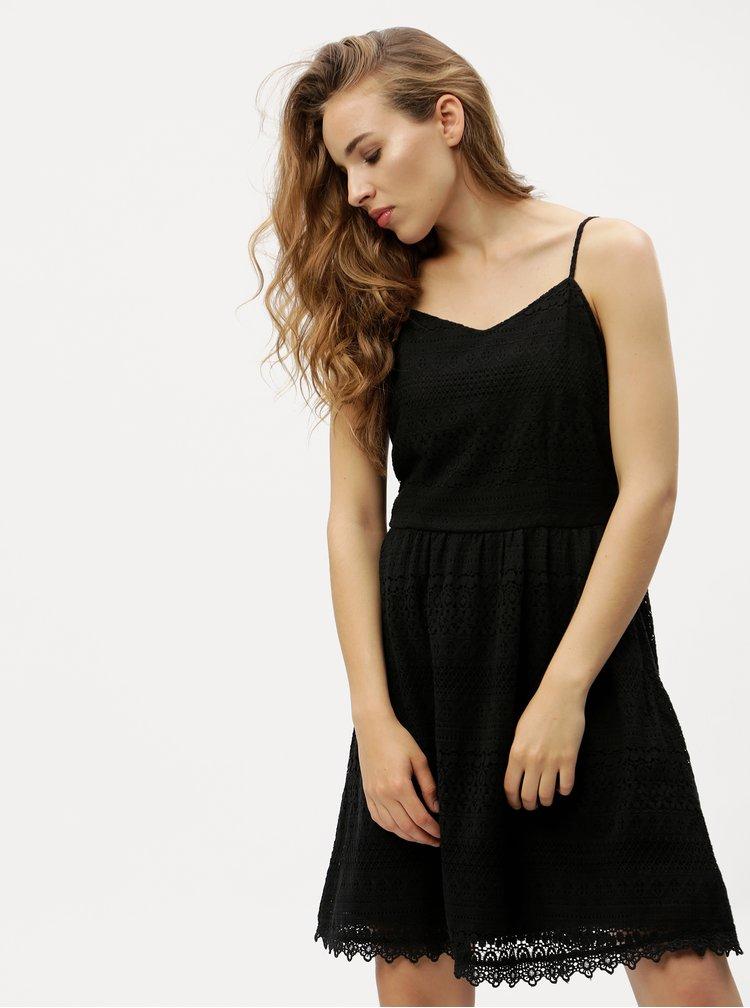Černé krajkové šaty VERO MODA Honey