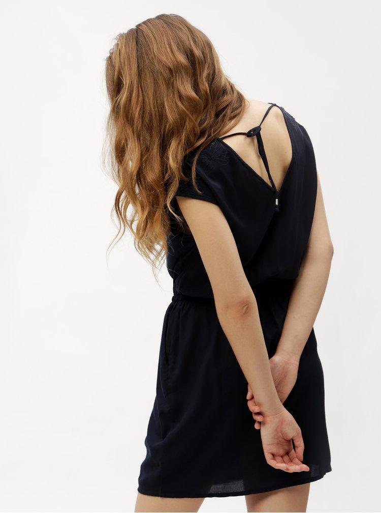 Tmavě modré šaty VERO MODA Malva