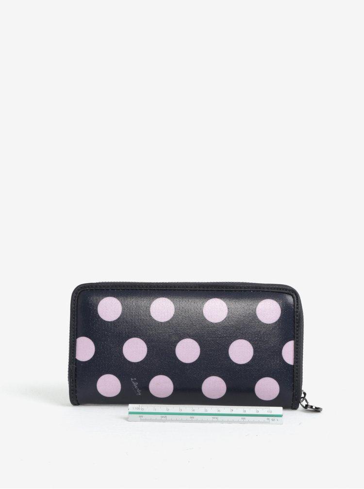 Růžovo-modrá puntíkovaná velká peněženka Liberty by Gionni Carmen