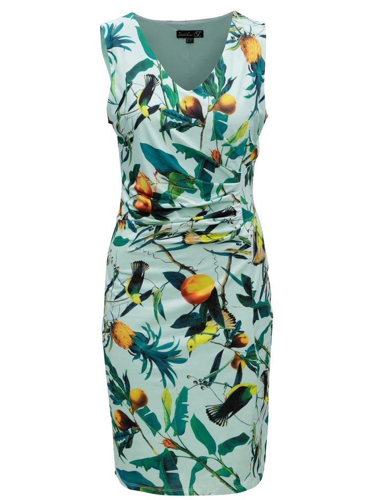 Mentolové vzorované šaty Smashed Lemon