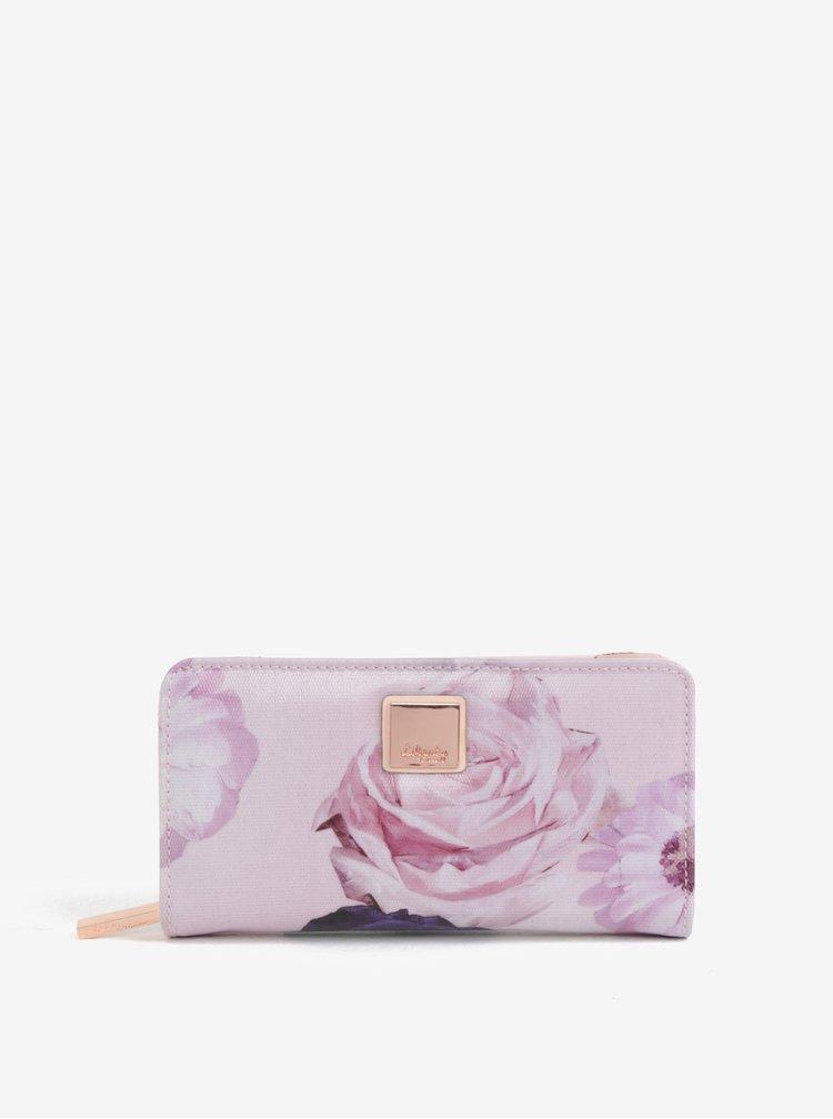 Růžová květovaná peněženka Liberty by Gionni Fleur