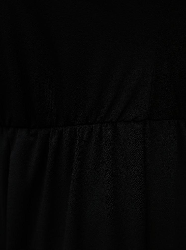 Rochie neagra cu croi suprapus la spate Zizzi