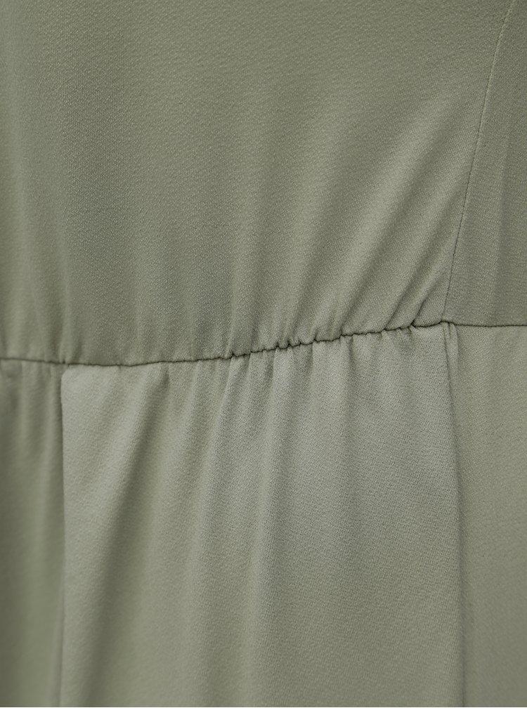 Khaki šaty s překládanou zadní částí Zizzi