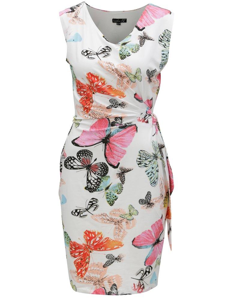 Růžovo-bílé šaty s motivem motýlů Smashed Lemon