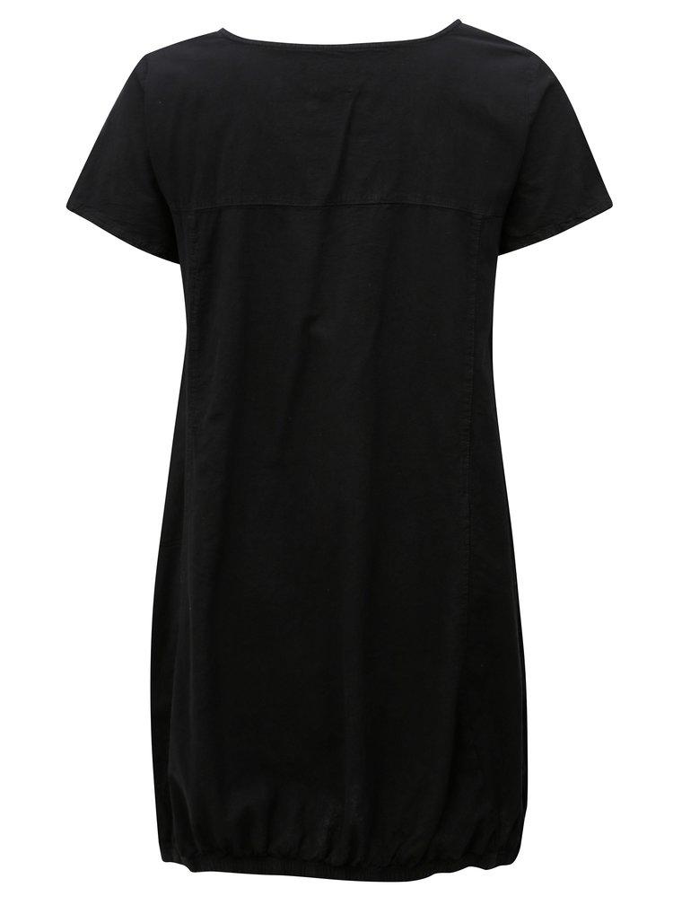 Čierne šaty s vreckami Zizzi