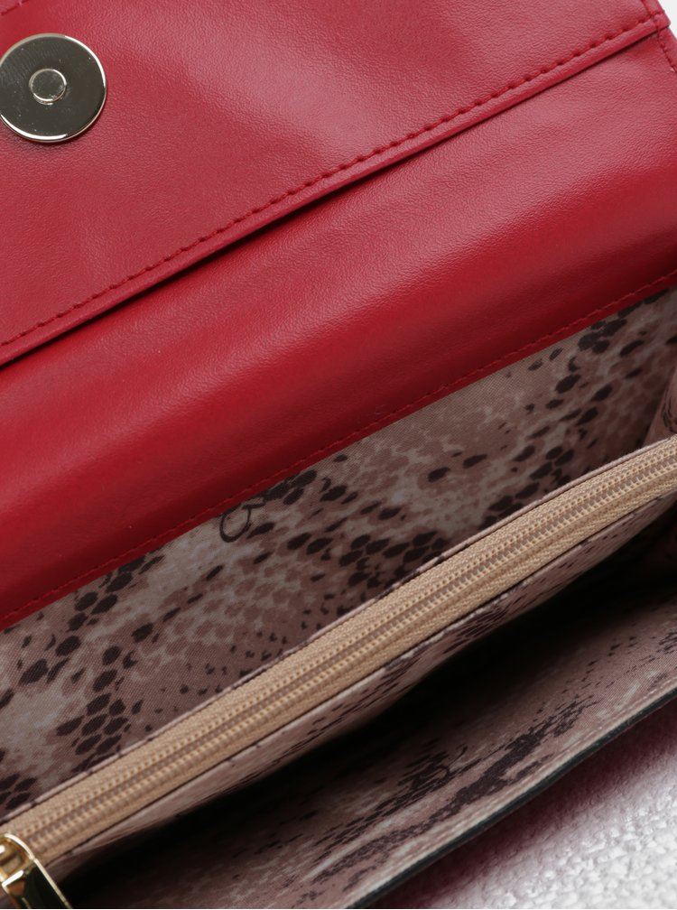 Tmavě růžová peněženka se cvočky ve zlaté barvě Gionni Tessa