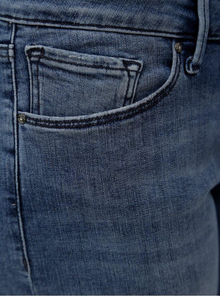 Modré dámske regular slim rifľové kraťasy s nízkym pásom Cross Jeans