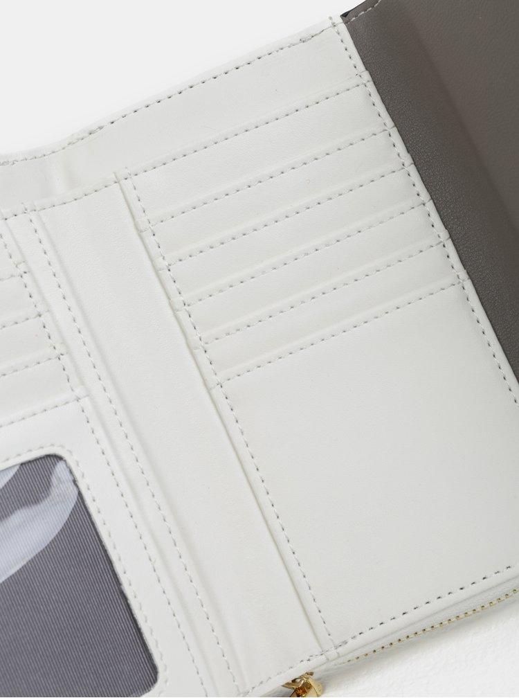Bílo-šedá velká peněženka Gionni Cara