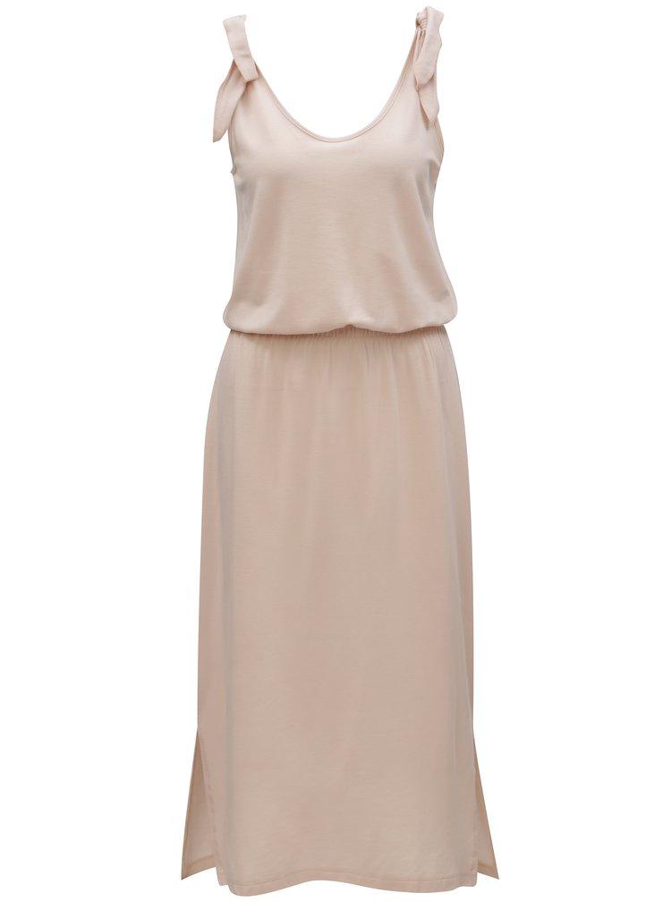 Světle růžové šaty VERO MODA Diana