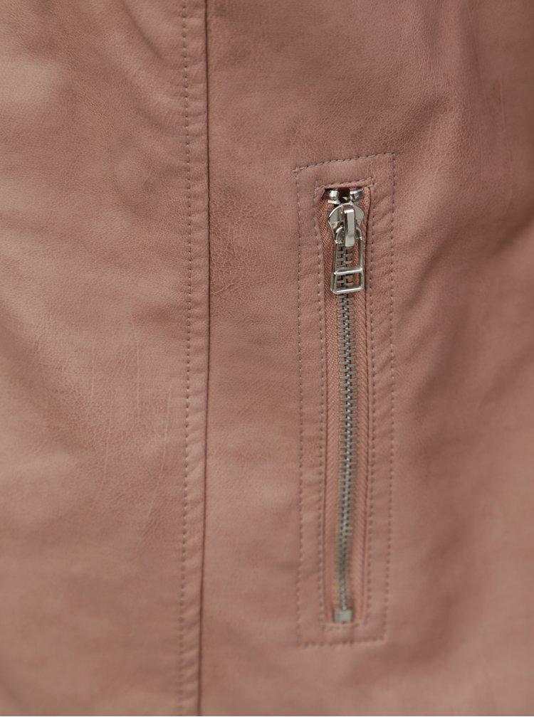 Starorůžová dámská koženkový křivák Zizzi