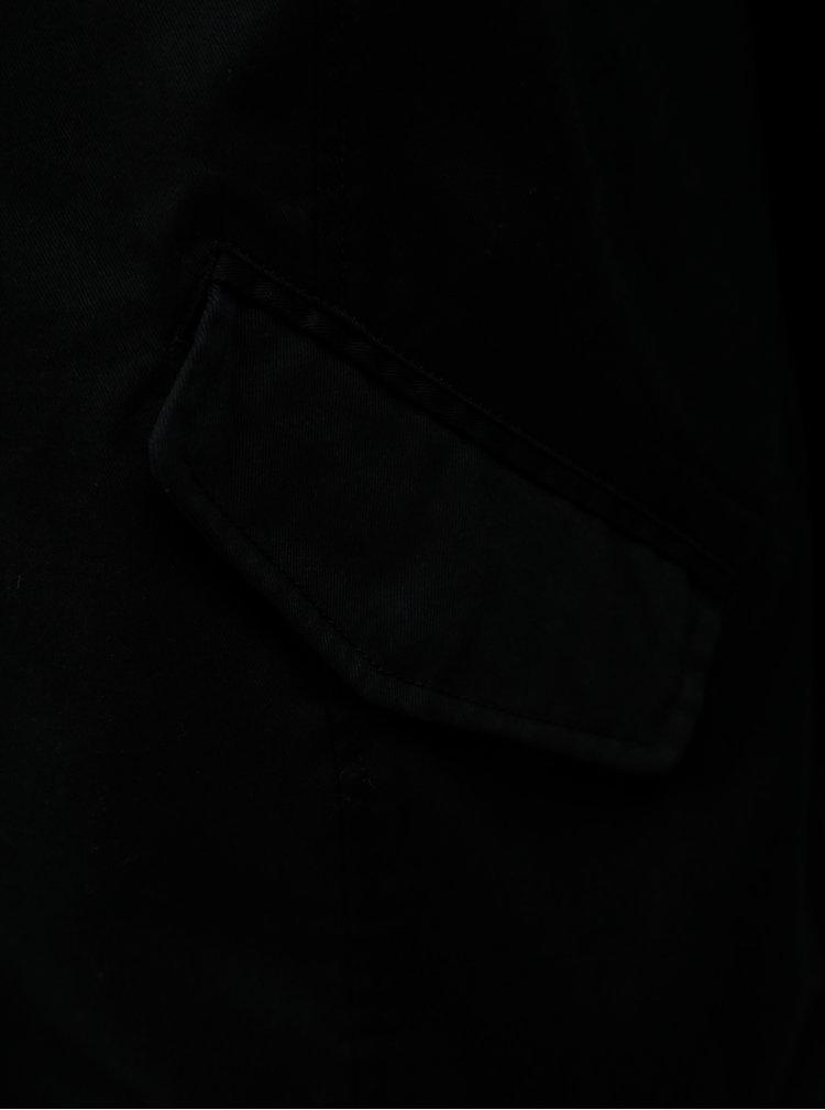 Jacheta neagra de dama cu gluga Zizzi