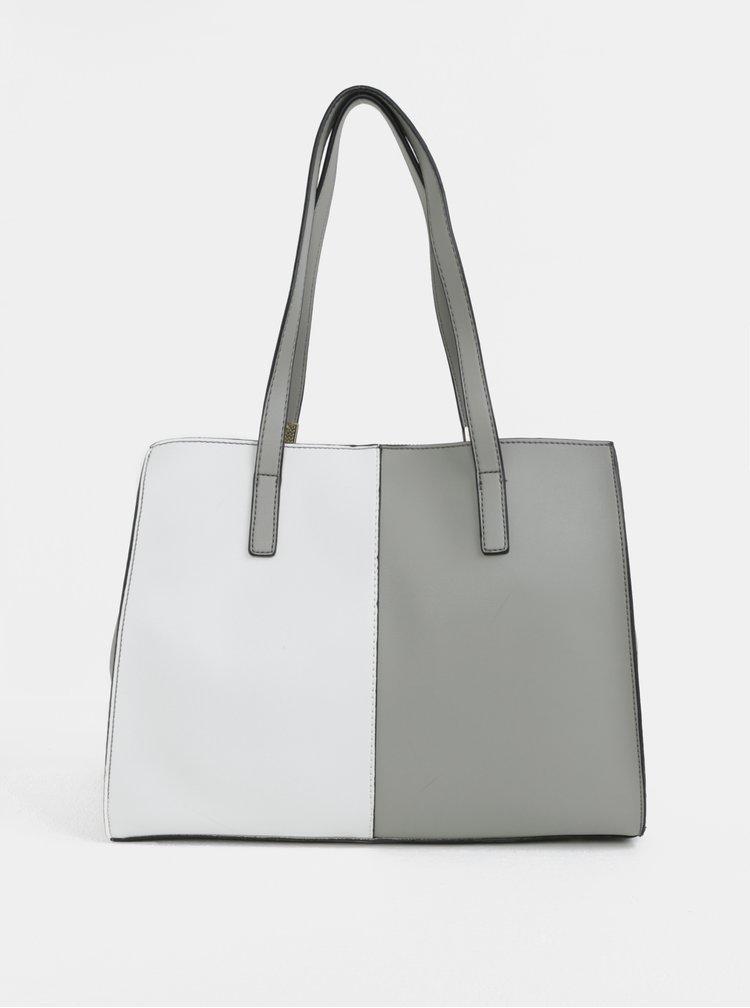 Bílo-šedá kabelka s detaily ve zlaté barvě Gionni Zelene