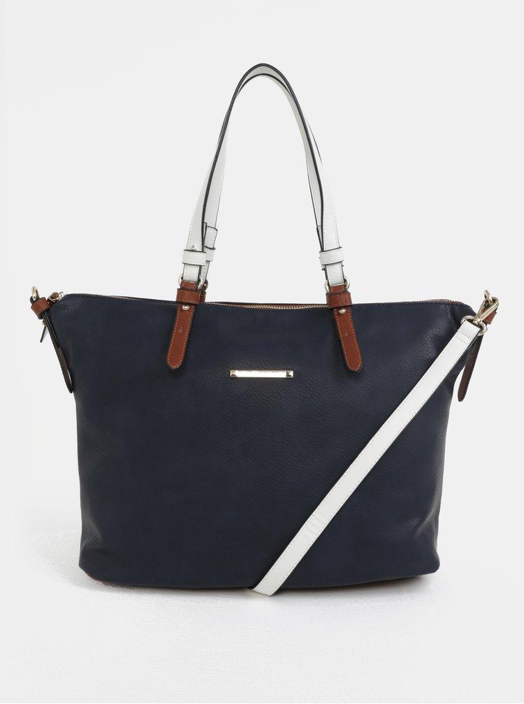 Tmavě modrá kabelka s detaily ve zlaté barvě Gionni Ava