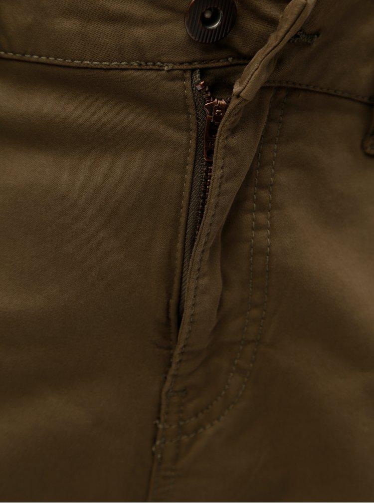 Khaki kraťasy s kapsami Zizzi