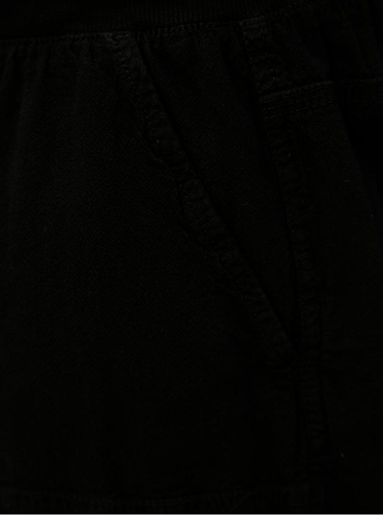 Černé kraťasy s gumou v pase Zizzi