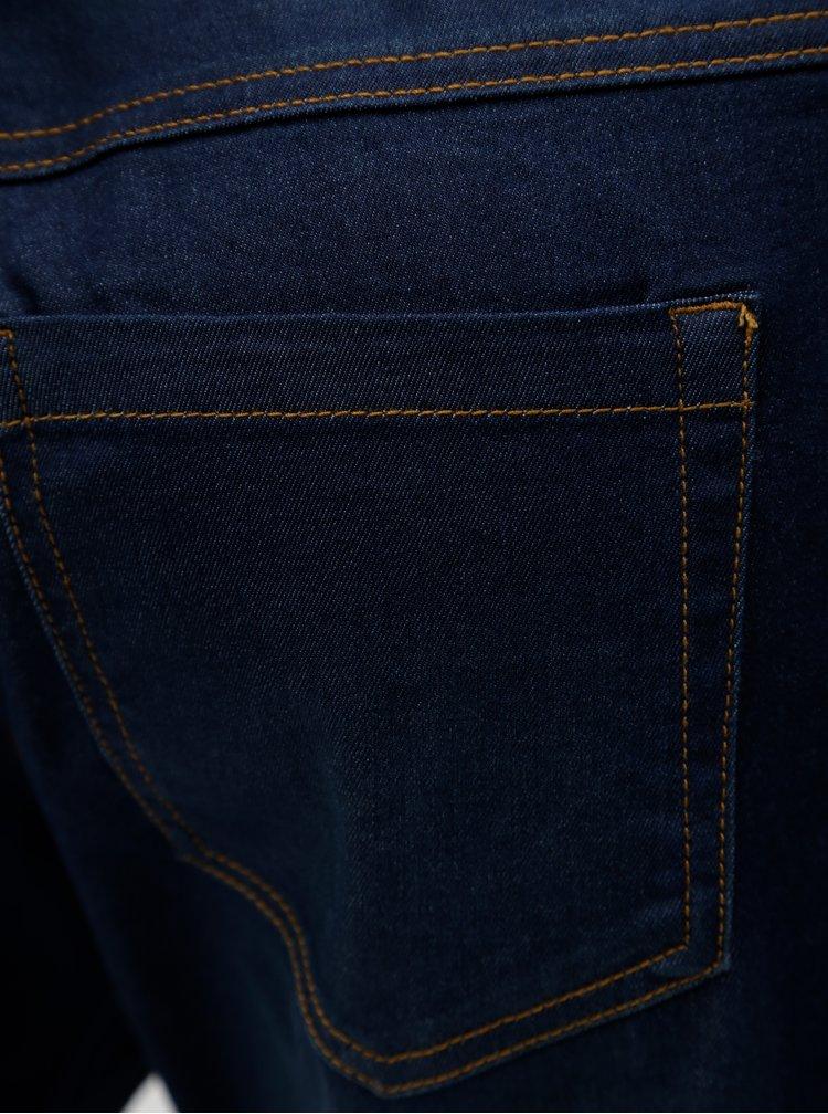 Tmavě modré džínové regular slim kraťasy Zizzi