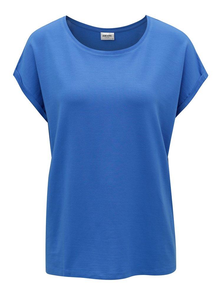 Modré oversize tričko VERO MODA Ava