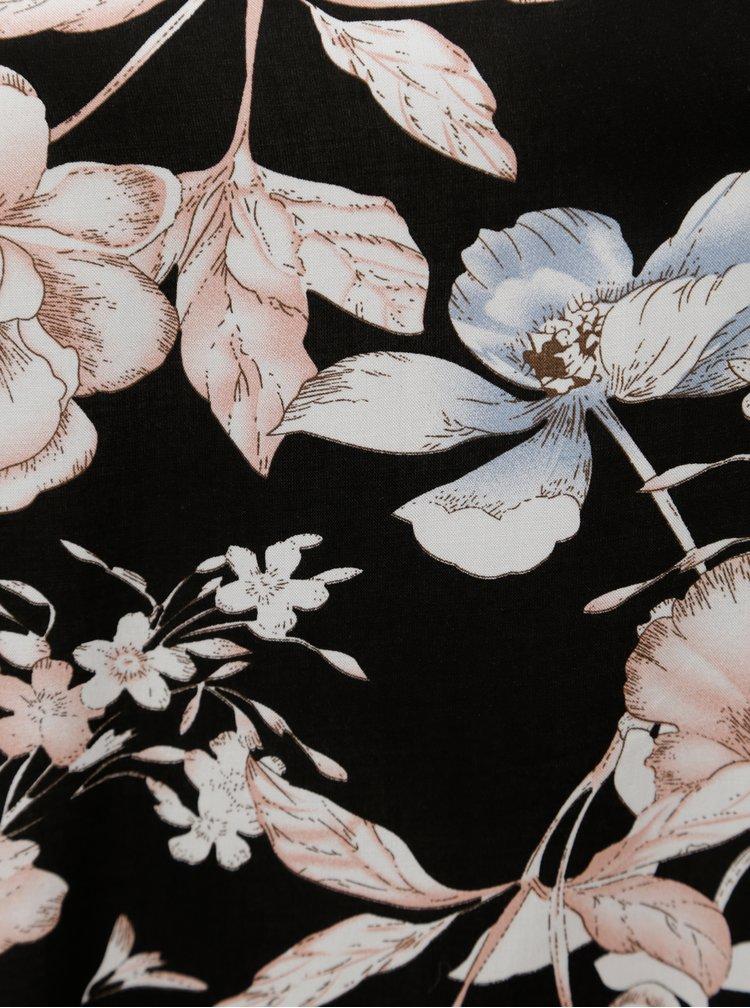 Černá květovaná halenka Zizzi