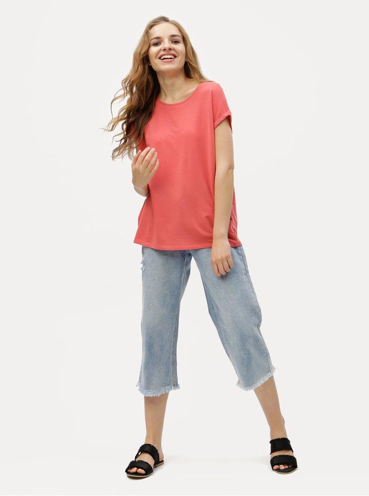 Červené volné basic tričko VERO MODA Ava