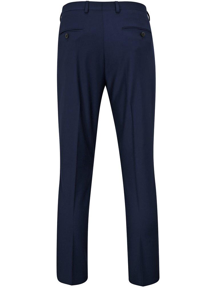 Tmavě modré oblekové skinny fit kalhoty Burton Menswear London