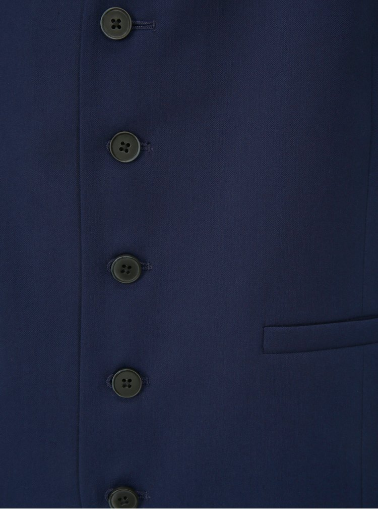 Vesta albastru inchis formala skinny Burton Menswear London