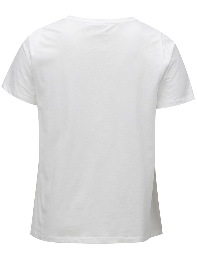 Bílé basic tričko Zizzi