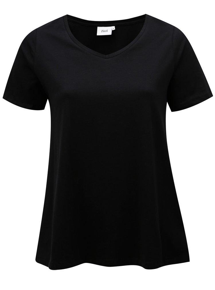 Čierne basic tričko Zizzi