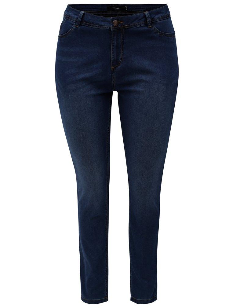 Modré dámské slim džíny Zizzi