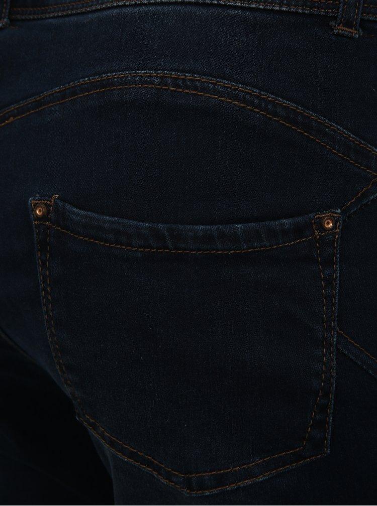 Tmavě modré zkrácené skinny džíny simply be.