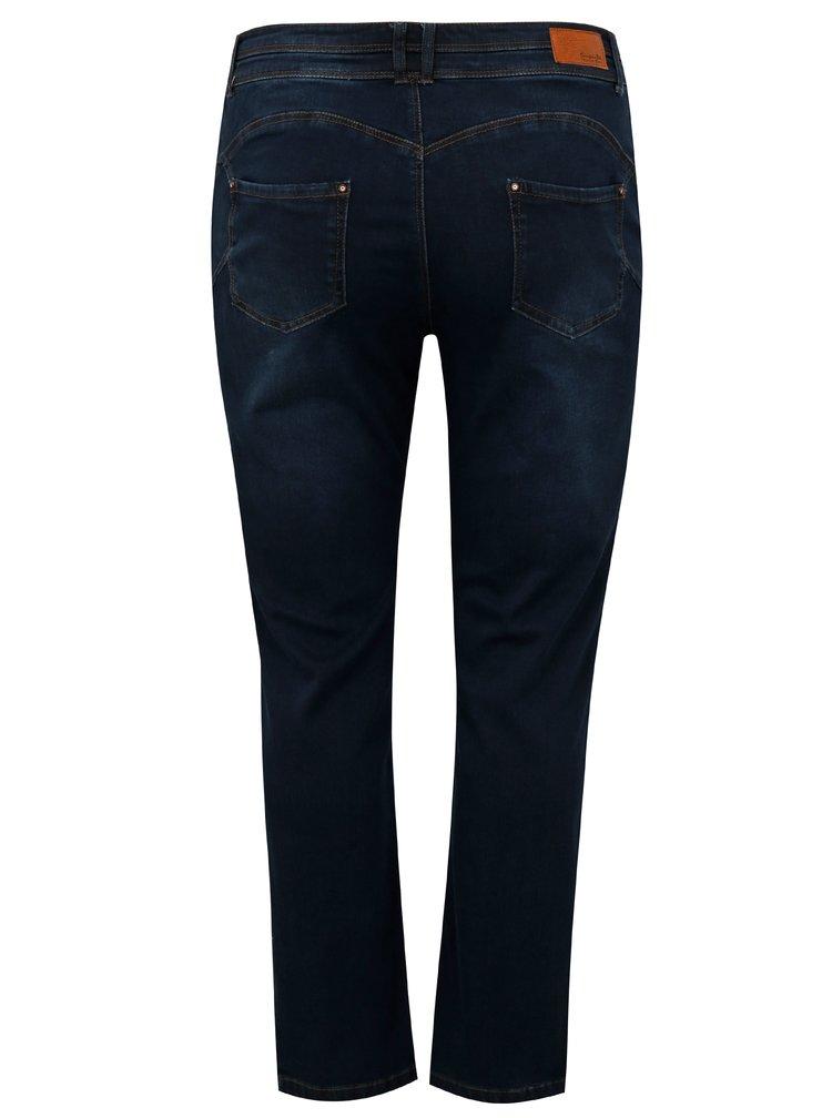 Tmavě modré zkrácené straight džíny simply be.