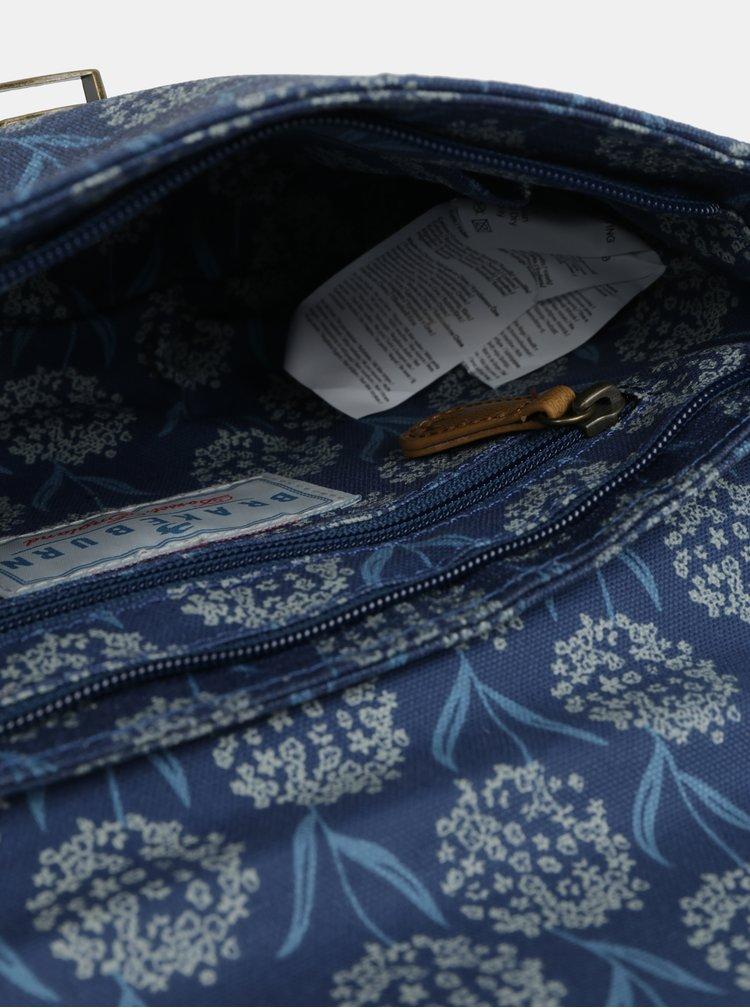 Tmavě modrá květovaná crosbody kabelka Brakeburn