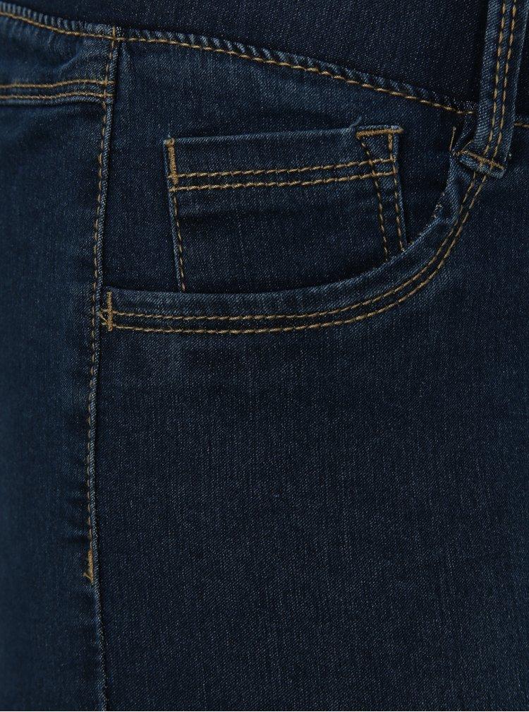 Modré zkrácené skinny jeggings simply be.