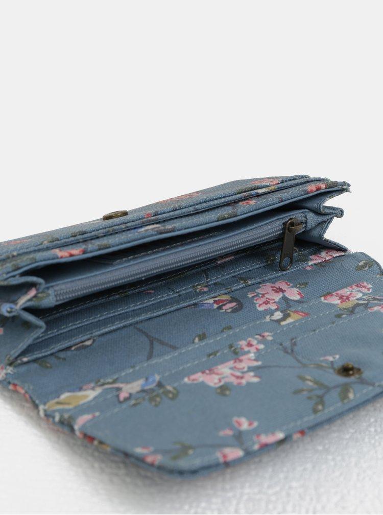 Modrá květovaná peněženka Brakeburn