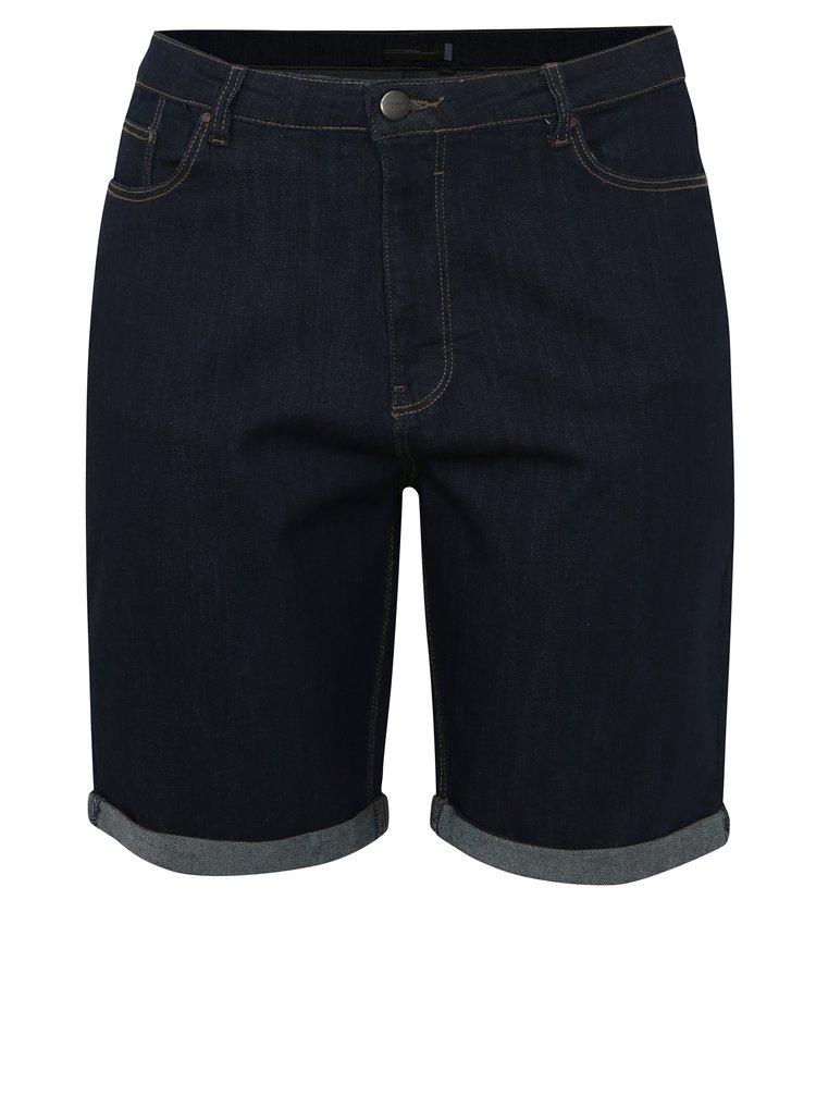 Tmavě modré džínové kraťasy s vysokým pasem simply be.