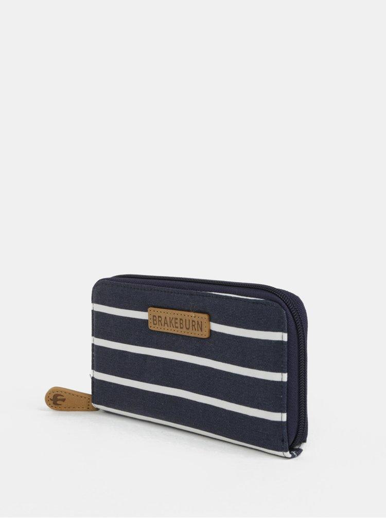 Tmavě modrá pruhovaná peněženka Brakeburn