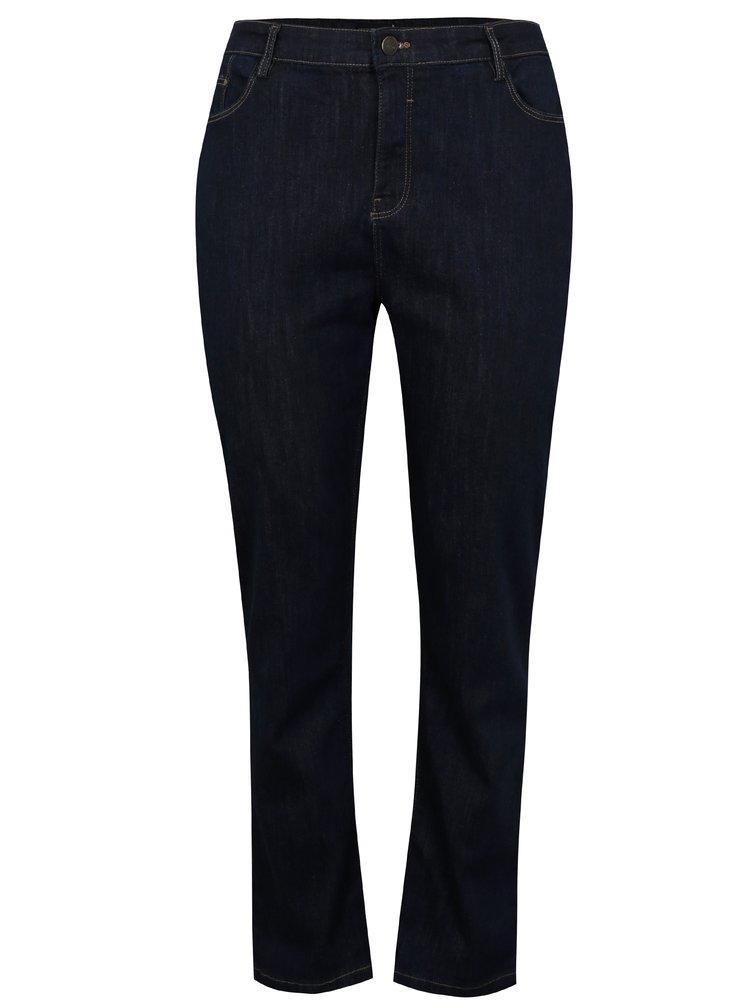 Tmavě modré straight džíny s vysokým pasem simply be.