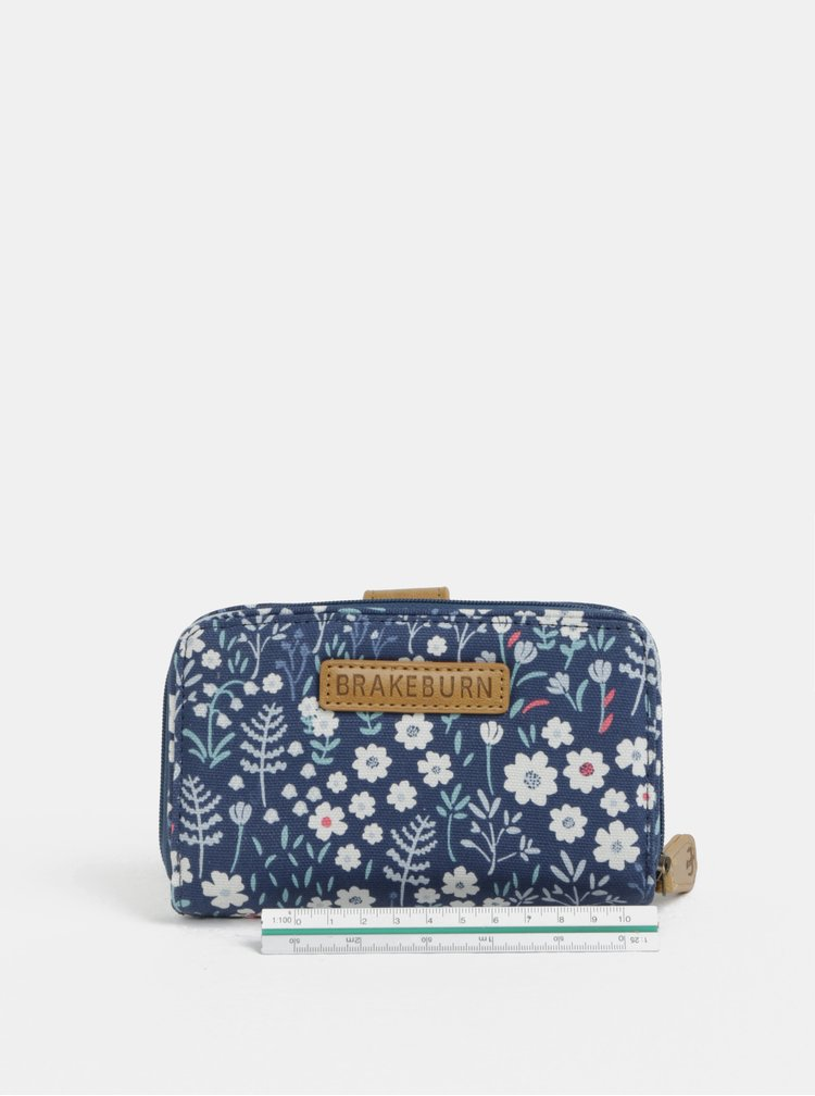 Tmavě modrá květovaná peněženka Brakeburn