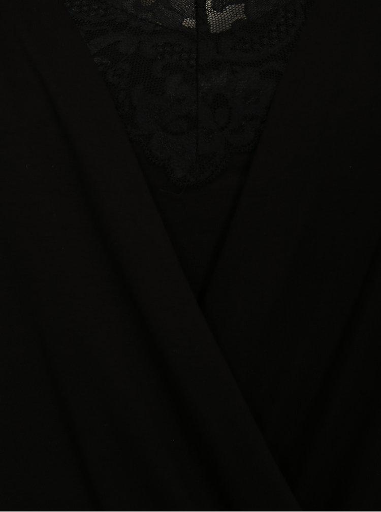 Černé tričko s dlouhým rukávem simply be.