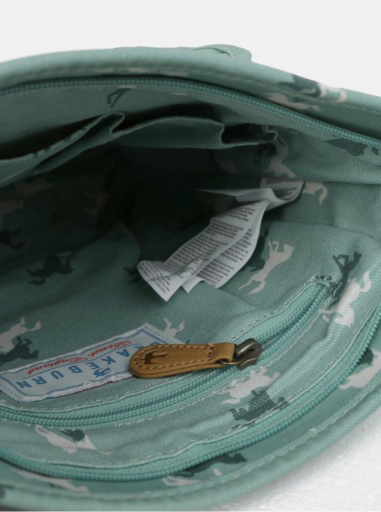 Zelená crossbody kabelka s motivem koní Brakeburn