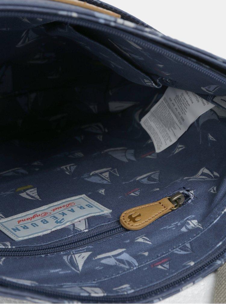 Tmavě modrá crossbody kabelka s motivem plachetnic Brakeburn