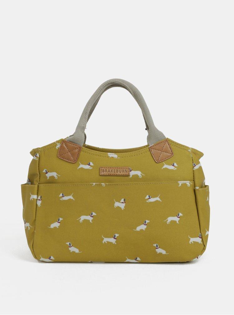 Žlutá kabelka přes rameno s motivem pejsků Brakeburn